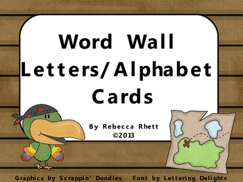 Pirate Word Wall Letters/Alphabet Cards