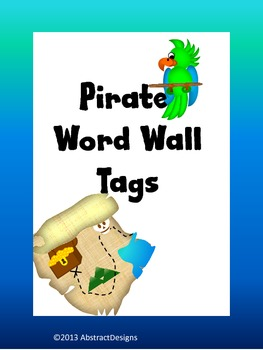 Pirate Word Wall Tags