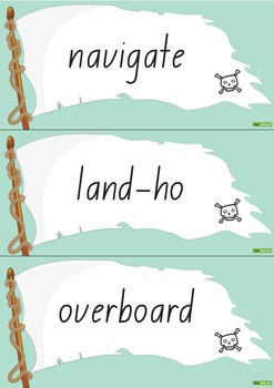 Pirate Word Wall Vocabulary – White Flag