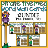Pirate Word Wall Word Cards Bundle 220 Sight Words