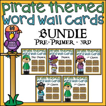 Word Wall Word Cards Bundle Pirate Theme Classroom Decor