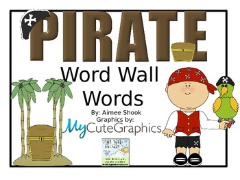 Pirate Word Wall Words