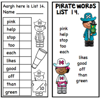 Sight Word Fluency Lists 2 Take Home and Learn the next 100 sight words.