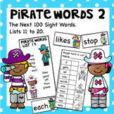 Pirate Words Lists 2 the Next 100 sight words.