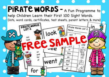 Pirate Words A Free Sample Set.