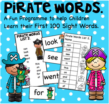 Pirate Words a Fun Way to Learn 100 Sight Words