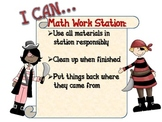 """Pirate Work Station """"I CAN"""" Charts"""