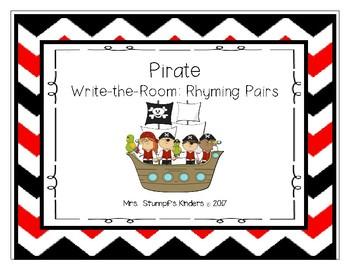 Pirate Write The Room- Rhyming Pairs