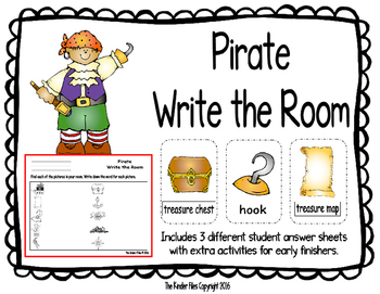 Pirate Write the Room- Includes 3 levels of answer sheets