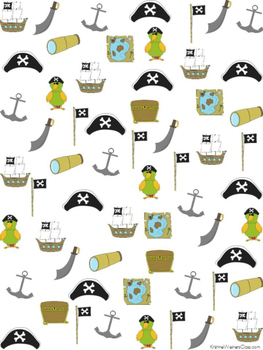 Graph and Tally Poster Set: Pirate Pictures