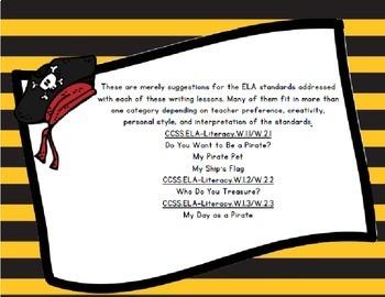 Pirate Writing Pack-ELA Aligned