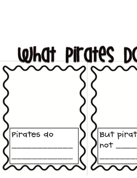 Pirate Writing Pages Freebie