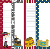 Pirate Writing Paper - 3 Styles - 4 Designs