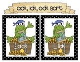 Pirate _ack, _ick, _ock Word Sort