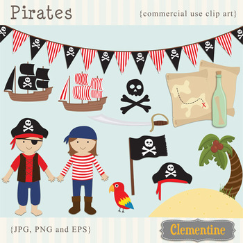 Pirate clip art - Lovely Clementine