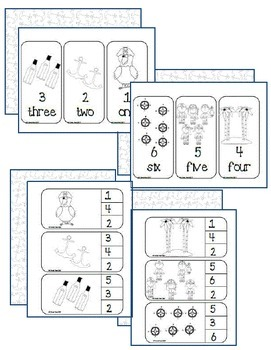 Pirate clip & count and flashcards (1-6)