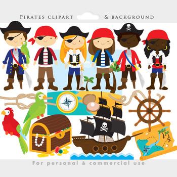 pirate clipart pirates clip art eyepatch booty ship treasure rh teacherspayteachers com pirate clip art border pirate clip art black and white