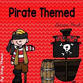 Pirate decor / organization room theme