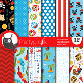 Pirate digital paper, commercial use, scrapbook papers - PS650