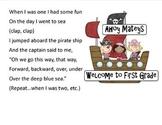 Pirate movement break from Responsive classroom