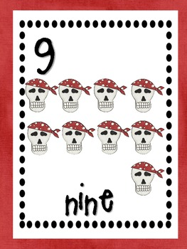 Pirate number cards