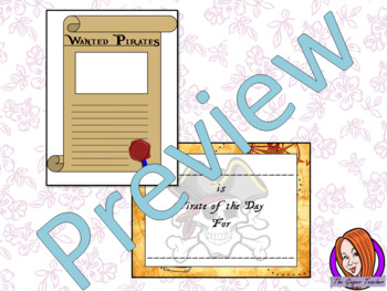 Pirate of the Day Certificate and Wanted Poster