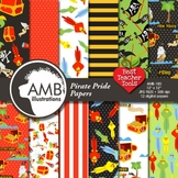 Pirate Digital Papers and Backgrounds 2 { Best Teacher Tools } AMB-180