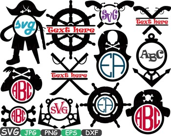 Pirate's Adventures Clip art pirate anchor boat sword carribean Circle abc -221s
