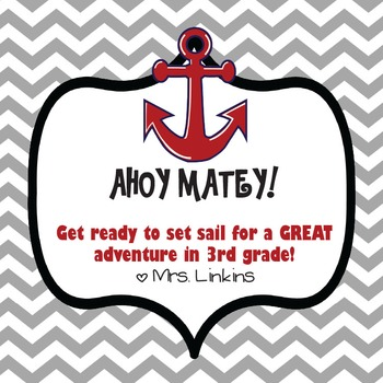 Pirate's Back to School Tag
