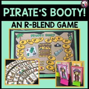 Pirate's Booty!  A Consonant Blend Game! tr, br, dr, pr !