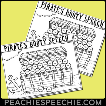 Pirate's Booty Articulation Therapy Dot Activity