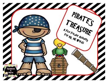 Pirate's Treasure - A File Folder Activity For ng/nk