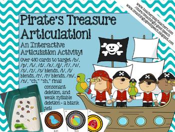 Pirate's Treasure - An Interactive Sensory Bin Articulation Activity