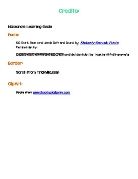 Pirate themed Learning Goals and Marzano's Learning Scale