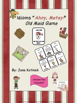 Pirate themed Old Maid Game for Idioms