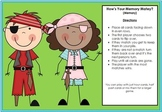 Time Math Game O' Clock and Half Past Pirate Theme