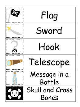 Pirate themed Word Wall theme for preschool daycare educational teachers.
