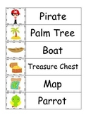 Pirate themed Word Wall theme for preschool daycare educat