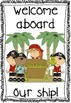 Pirate-themed classroom decoration set (with editable elements)