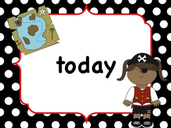 Pirate themed first grade sight words