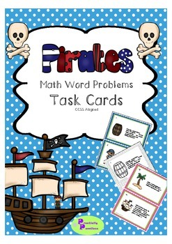 Pirate themed math task cards - word problems
