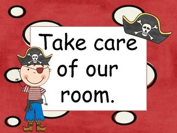 Pirate themed rules for your classroom!