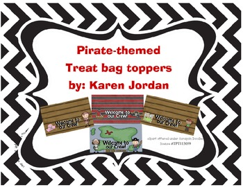 Pirate-themed treat bag toppers