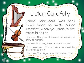 Danse Macabre Guided Listening Activity for Upper Elementary