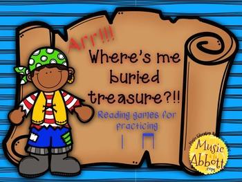 Find Me Buried Treasure: Two Games for Practice ta ti-ti i