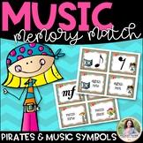 Pirate Music Symbol Memory Match