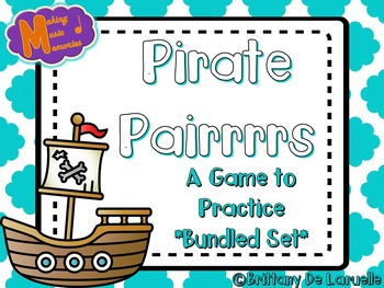 Pirate Pairrrrs - A Game for Practicing Solfege {Bundle}