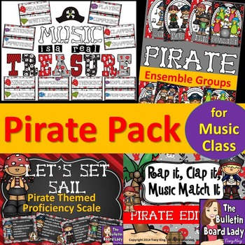 Pirate Themed Music Bundle of Decor and More