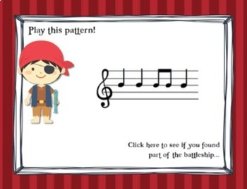 Pirate Battleship {Recorder Games for B and A}