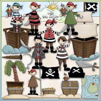 Pirates Clip Art - Pirate Ship Clip Art - CU Clip Art & B&W
